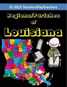 LOUISIANA - Regions/Parishes Of Louisiana