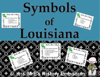 LOUISIANA  State Symbols Task Cards