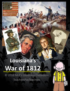 LOUISIANA - Ch. 8 War Of 1812 Activities