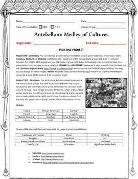 LOUISIANA - Antebellum, The Medley of Cultures