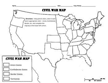 LOUSIANA - Civil War Map
