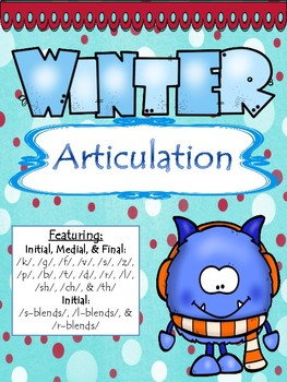 NO PREP Winter Articulation