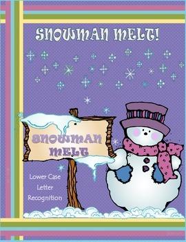 SNOWMAN MELT-LOWER CASE LETTER RECOGNITION