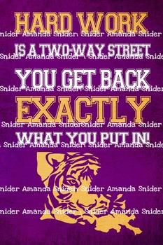 Classroom Theme LSU Tiger Classroom Poster