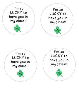 LUCKY Charms bag tags