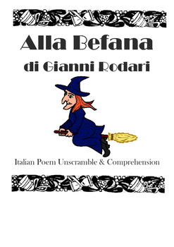 La Befana Italian Language Poem Unscramble & Comprehension