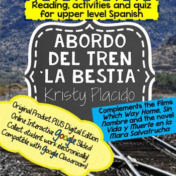 La Bestia Reading and activities includes ONLINE INTERACTI