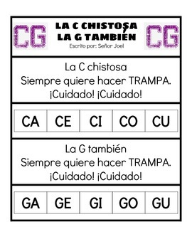 La C Chistosa (Spanish Immersion Song to Teach How to Read