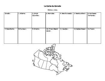 La Carte du Canada et de la Saskatchewan