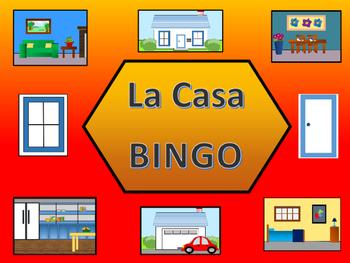 La Casa BINGO -  Spanish House Vocabulary