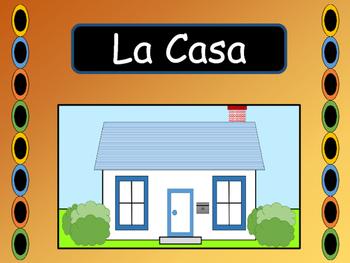 La Casa – Spanish House Vocab Presentation, Worksheets and