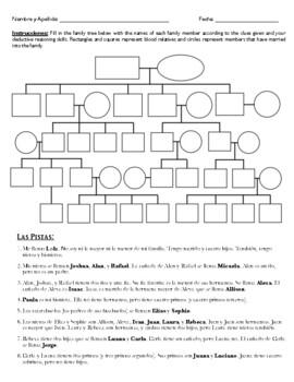 La Familia Misteriosa 3 (Worksheet)