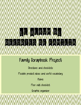 La Familia Spanish Family Scrapbook Project (family nouns,
