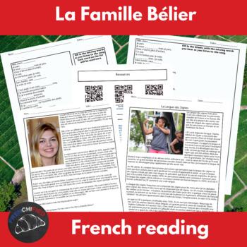 La Famille Bélier - supplemental activities to accompany t