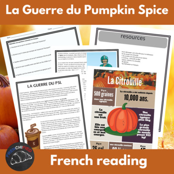 La Guerre du Pumpkin Spice Latte -  for intermediate/advan