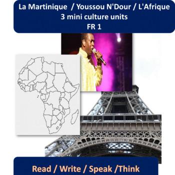 La Martinique / L'Afrique - 3 mini content-based thematic