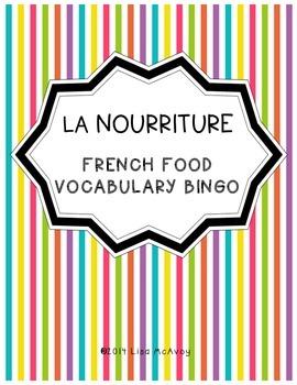 La Nourriture (French Food) Bingo