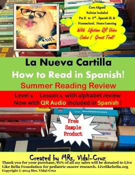 La Nueva Cartilla-Learn How to Read in Spanish! Free Sampl