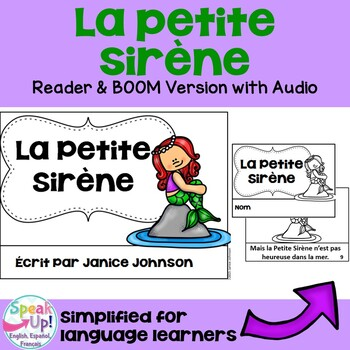 La Petite Sirène French Little Mermaid Reader~Simplified f