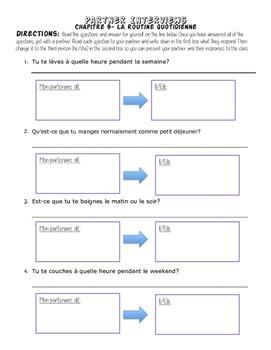 La Routine Partner Q & A Activity