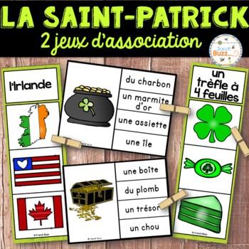 La Saint-Patrick - Ensemble 2 jeux d'association - French