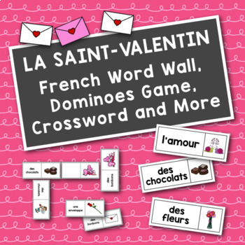 La Saint-Valentin: French Valentine's Day Dominoes Game an