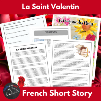 La Saint Valentin - Readings & Activities for French langu