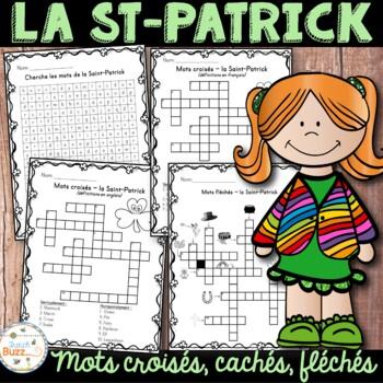 La Saint-Patrick - mots croisés cachés fléchés -  French S