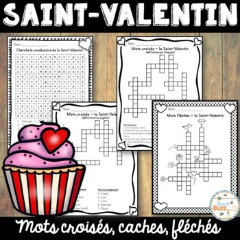 Saint-Valentin - Mots croisés, mots fléchés et mots cachés