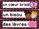 Saint-Valentin - vocabulaire GRATUIT! French Valentine's Day