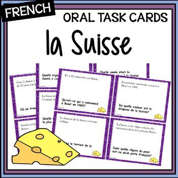La Suisse - Activité orale - Oral task cards