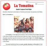 La Tomatina Reading & Sub Plan