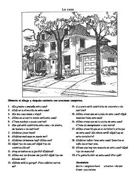 La casa - composición ilustrada