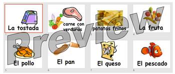 La comida - basic food items