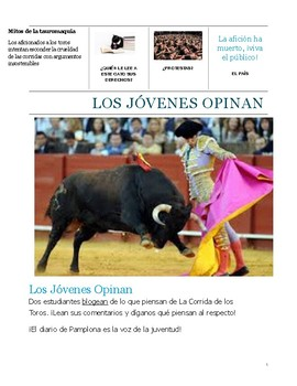 Bull-fighting in Spain Mini lesson with text: Culture or c
