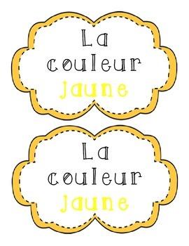 La couleur jaune - French Emergent Reader