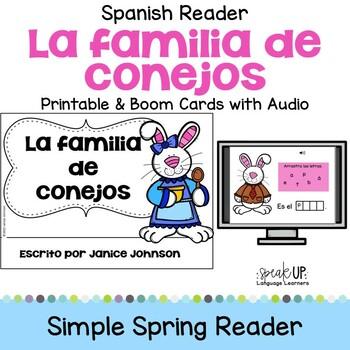 La familia de conejos ~ Spanish Family Spring reader for E