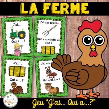 """La ferme - jeu """"j'ai... qui a...?"""" - French farm"""