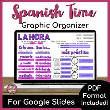 La hora (Time) Graphic Organizer