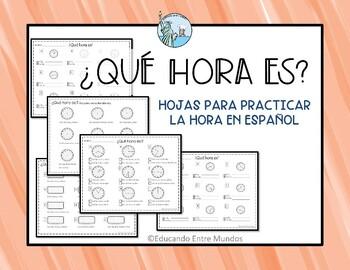 La hora SPANISH telling time