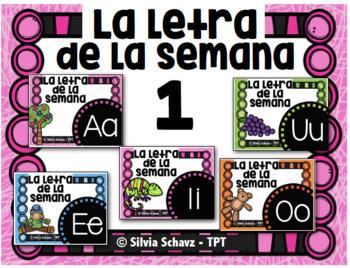 La letra de la semana en español  #1