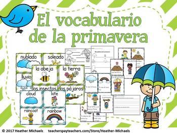 La primavera / Bilingual Kindergarten + ESL Vocabulary Res