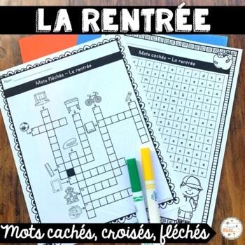 La rentrée - Mots croisés, cachés, fléchés - French back t