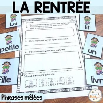 La rentrée - Phrases mêlées - French Back to school