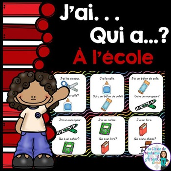 Rentrée Scolaire: School themed vocabulary game in French