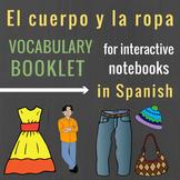 La ropa / el cuerpo Vocabulary Booklet for Spanish Interac
