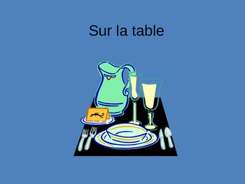 La table French Table Place setting dining vocabulary Powe