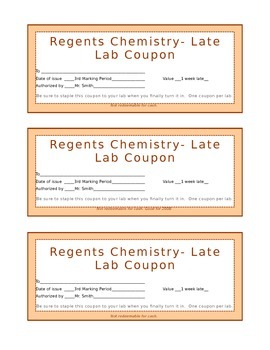 Lab Coupon for Late Labs