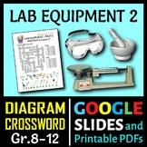 Lab Equipment Crossword with Diagram - Part 2 {Editable}