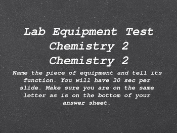 Lab Equipment Test